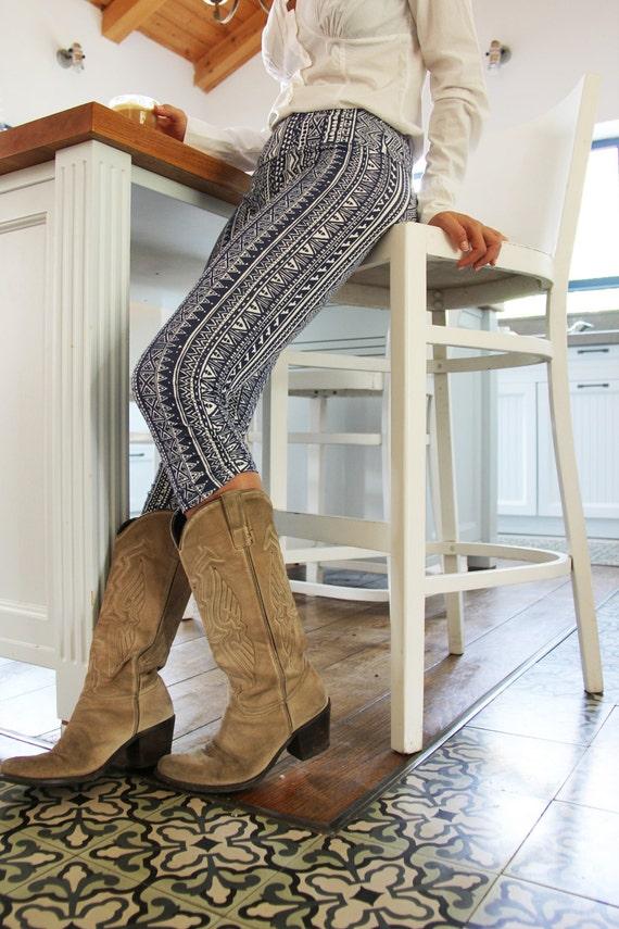 Geometric legging, ifficreations, Printed legging,Tights, boho style, Legging, Women leggings, 3/4 tights, gift for her