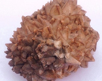 "SALE--Dogtooth Calcite 533g HUGE ""Mariposa"" with Hematite Zoning Crystal Cluster Specimen"