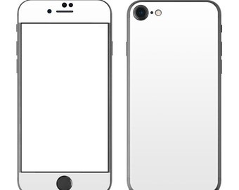 Solid White - iPhone 7/7 Plus Skin - Sticker Decal