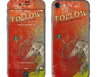 Follow Your Bliss by Duirwaigh Studios - iPhone 7/7 Plus Skin - Sticker Decal