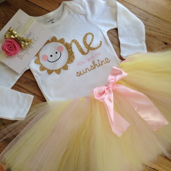 You Are My Sunshine First Birthday Outfit Summer 1st
