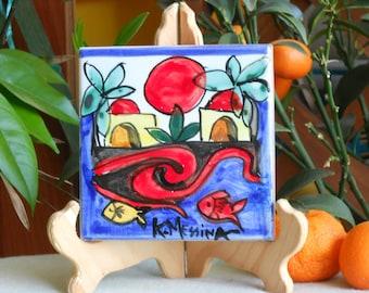 Ceramic tiles handmade. Ketty Messina pottery