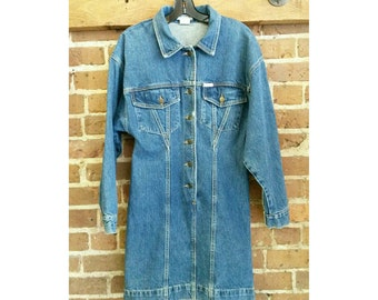 Vintage 80s Guess denim dress- size medium vintage denim dress