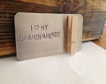 I love my grandparents. Gift for grandparents. Gift for grandma & grandpa