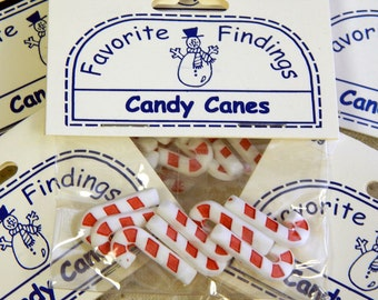 Blumenthal Lansing - Favorite Findings - Candy Cane Buttons - Package of Eight Buttons