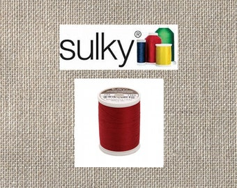 Sulky 2-ply 12wt - Cotton Thread - 330yds - Bayberry Red - 713-1169 - By the Spool