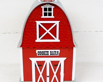 Vintage Singing Cookie Barn Jar