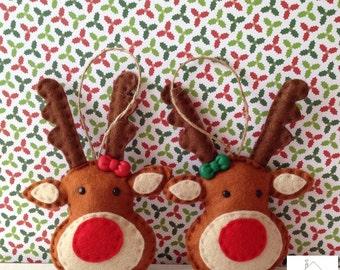 Christmas Reindeer Felt Ornament