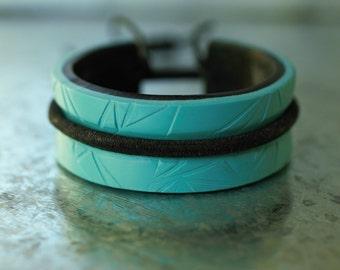 Hair Tie Bracelet ~ Hairband Bracelet ~ Ponytail Holder ~ Polymer Clay Elastic Holder  ~ Hairband Holder Cuff Bracelet ~ Elastic Holder