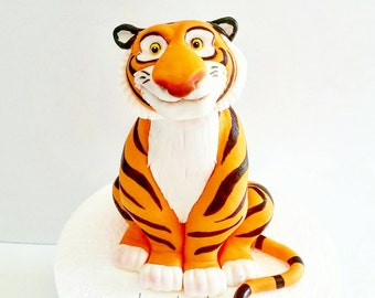 Tiger fondant cake topper. Raja cake topper.