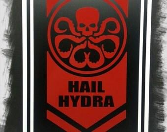 "Hail Hydra 12""x18"" Aluminum Sign"
