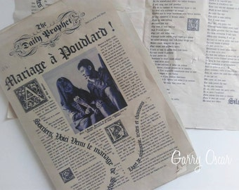 Harry Potter Poudlard, daily Prophet ceremony booklet