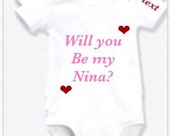 Marriage proposal & Godmother 1 x bodysuit or 1 x T-shirt or 2 x white bibs