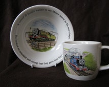 Wedgwood Thomas the Tank Engine And Friends,  Small Mug And Cereal Bowl, Thomas The Train  Nursery China Cup And Feeding Bowl.