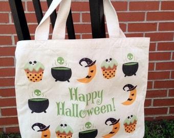Happy Halloween Tote Bag - Green