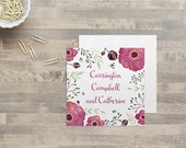 Campbell - Personalized Floral Gift Tags - Enclosure Cards - Watercolor Gift Tags - Floral Calling Cards - Watercolor Enclosure Cards