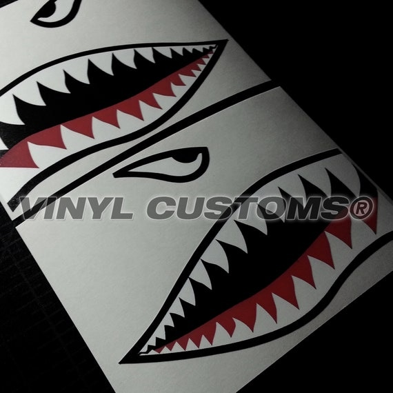 Flying Tigers Vinyl Sticker Autocollant Requin Dents Hobby Ww2