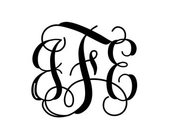 Monogram Initial's Vinyl Decal