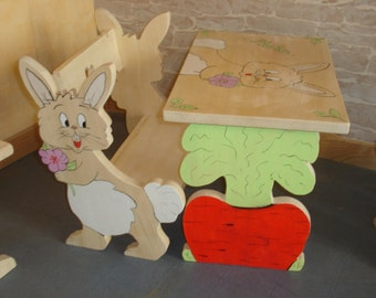 Kids desk 12 to 30 months rabbit