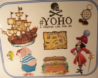 """Pirate Them Party place mats-set of 8-pirate party-11x9"""" each"""