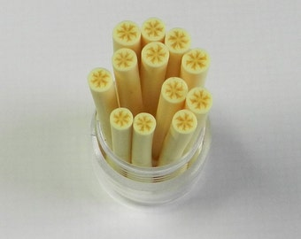 BANANA polymer clay cane for miniature dessert foods decoden and nail art supplies 4mm-5mm