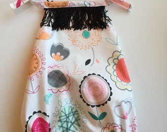 Baby floral&fringe sunsuit