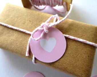 Mini Love Heart Gift Tags/ Wedding Favour Tags/ Engagement Favour Tags/ Baby Shower Gift Tags - GT036