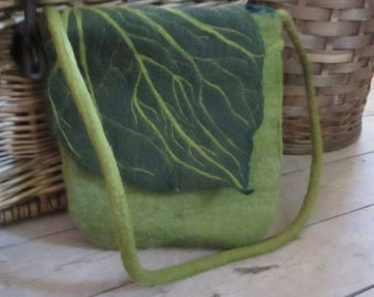 Leaf felted bag