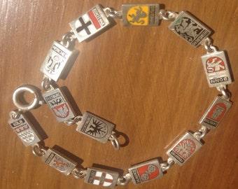 Vintage Solid 835 silver German souvenir  bracelet.