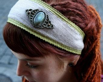 Headband with Labrodorite