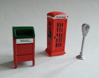 Mailbox Phone Booth Parking Meter Miniatures