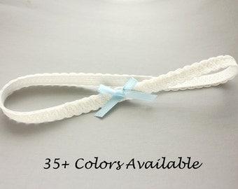 Sweet, Simple Dainty Wedding Garter - Thin Lace Bridal Garter - Simple Garter - Narrow Lace Garters - Weddings
