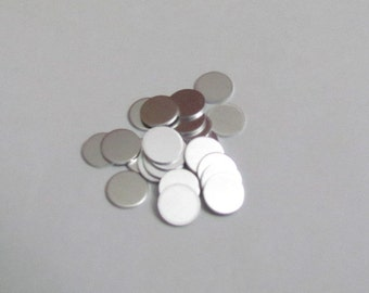 1/4 - 6.3 mm - 20 Gauge - 1100 Aluminum //Stamping blanks// Punch  //Craft Supplies//Hand Stamping Supplies//Jewelry Blanks