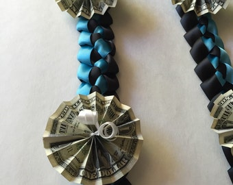 Hand Crafted Graduation Lei with folded money