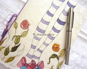 Gardening an original design for this colourful Journal or sketch book  with blank pages