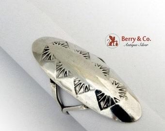 SaLe! sALe! Long Navajo Ring Sterling Silver