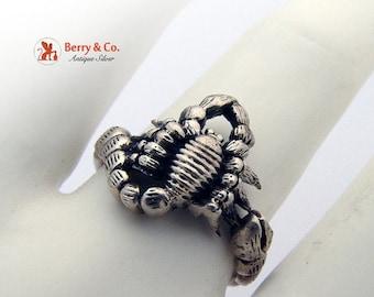 SaLe! sALe! Scorpio Ring Sterling Silver