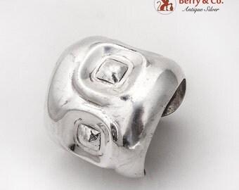 Art Moderne Large Cuff Bracelet Moulage Modele Sterling Silver