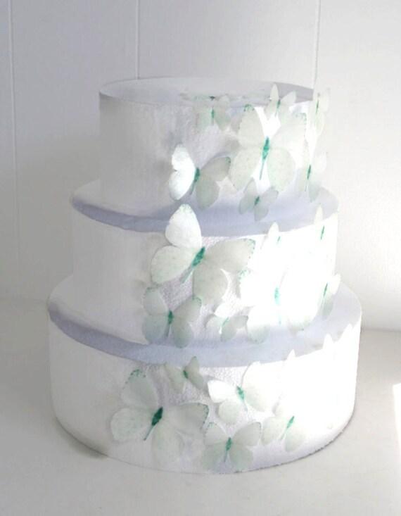 Edible Cake Decorations Pearls : Edible Butterfly Cake Decorations Pearl White Edible