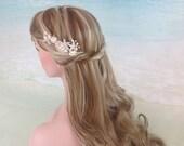 Bridal hair pin set - Beach wedding hair accessories, Starfish seashell bridal hairpins Silver or Gold hairpin set