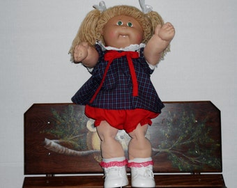 Vintage Cabbage Patch Kid Doll Coleco Girl 1985 with Dress- bloomers- shoes and socks  so Darling