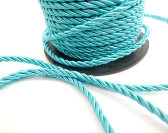 3 mm_15 meters_Turquoise Braided Cord_ PP064542007_Braided Cords of 3 mm_ Turquoise_49 Ft