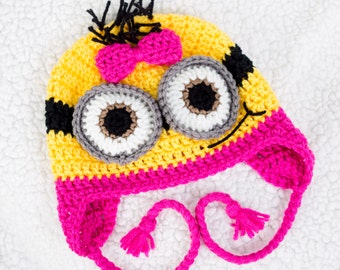 Girl Minion - Crochet Hat