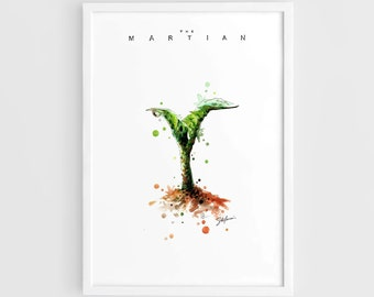 The Martian Movie Alternate Posters 2015 'Bring Him Home' - A3 Wall Art Prints Posters of the Original Watercolor Painting