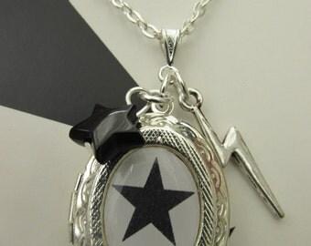 David Bowie Blackstar Charms locket Necklace