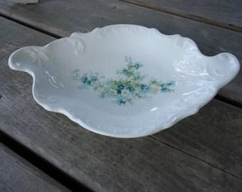 Vintage China Blue Flowered Dish