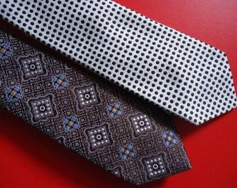 Retro Polyester Ties (set of 2)