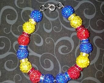 Kansas Jayhawks charm bracelet