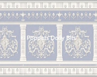 gorgeous deep dolls house border deep 4.5cms (2 inches approx)-1 sheet ready to cut out and use!