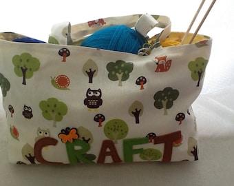 Knitting/ craft bag/tote bag